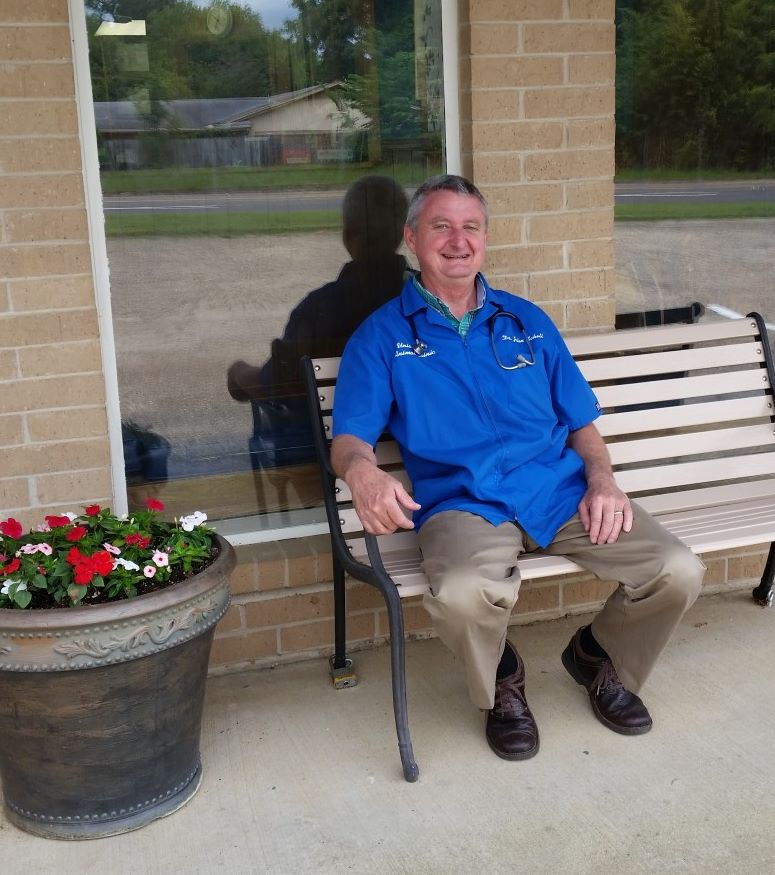 University Animal Clinic - Tyler TX - Dr. Schell Enjoying the beautiful day